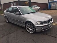 "BMW 320D ES 03/2003 PLATE """"19inch"""" M3 ALLOYS F/S/HISTORY """"""""FULL GREY LEATHER INTERIOR"