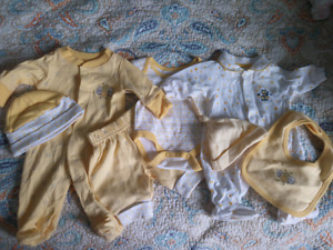 Never Worn Preemie Clothes 8 Piece Set