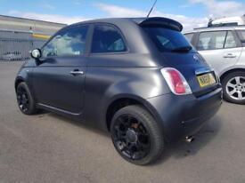 Fiat 500 MATT BLACK