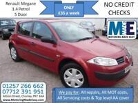 **£35 A WEEK** Renault Megane 1.4 VVT Maxim 5 DOOR, 12M MOT, EW CD RCL