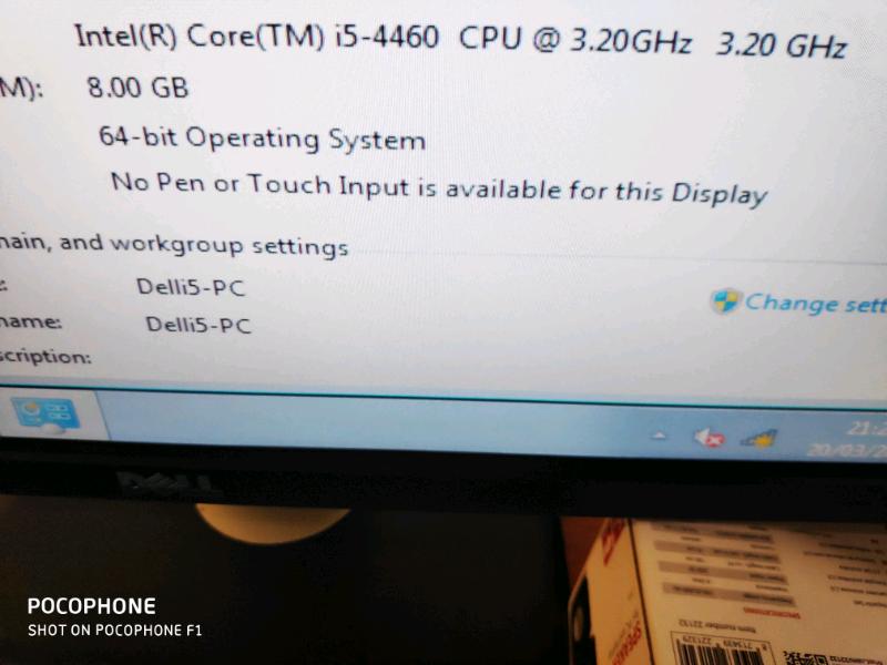 SSD Dell Inspiron I5 Quad Computer Desktop Pc With Dell Widscreen 22 L | in  Alum Rock, West Midlands | Gumtree