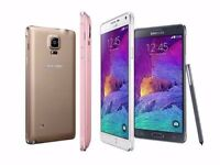 SAMSUNG GALAXY NOTE 4 MINT CONDITION 32GB ( UNLOCKED ) WITH WARRANTY & SHOP RECEIPT