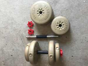 2 Dumbbells with removable weights