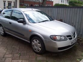 2003 Nissan ALMERA 1,5s, Nice Bright Car, NEW TEST and very CHEAP - only £495 One Owner