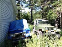 94 Jeep YJ with two spare YJ's for parts