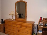Pine Dresser and Armoire