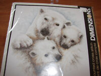 Mother's Love - Polar Bears - Counted Cross Stitch
