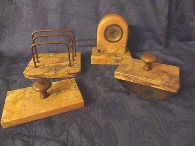 Schreibtischgarnitur -  Marmor mit Uhr