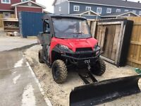 Partial trades..2013 Ranger XP 900 with tracks and Plow