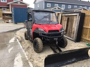 2013 Ranger XP 900 with tracks and Plow