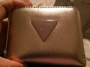Authentic Metallic Rose Gold Guess Wallet Barrie Ontario image 1