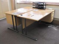OFFICE DESK WITH PEDESTAL (16 AVAILABLE)