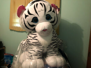 giant white tiger stuff toy