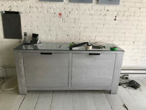 Side Board/ Dresser with Glass Top