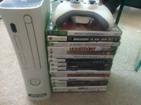 Xbox 360 with hdmi and bundle of games