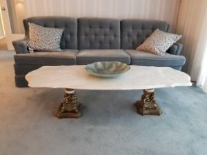 Coffee Table and Two End Tables - Marble