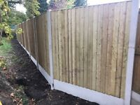 🌲Straight Top High Quality Tanalised Feather Edge Close Board Fence Panels