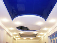 Strech ceiling - no mud, no paint, no mess - perfect look