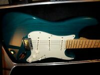 Fender America Deluxe 2002. Transparent Teal with maple neck