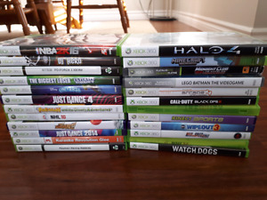 XBOX 360 3GB with Kinect and 2 controllers c/w 24 Games