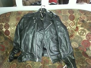 Womans Black Leather Jacket/Never Worn