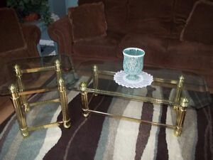 Glass Coffee & End Table