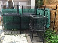 8  bird breeding cages with partial stands