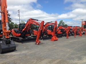 0% FINANCING FOR 60 MONTHS ON ALL KUBOTA EXCAVATORS!!!