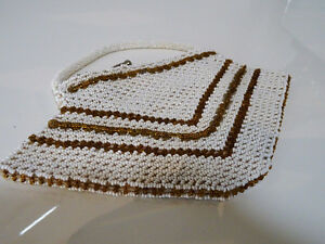 ART DECO beaded HANDBAG Czechoslovakia CHEVRON PATTERN 1920s-40s Kitchener / Waterloo Kitchener Area image 6