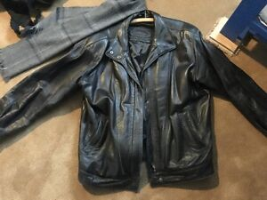 Leather Men's Jacket XL Black