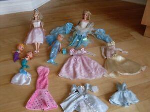 Barbie casse-noisette, Barbie sirènes et Barbie papillon
