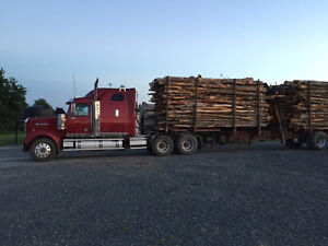 PRICE SLASHED!! 2010 Western Star and 2005 Valley Log Trailer