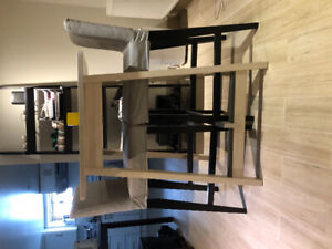 IKEA Norraker table, with two chairs