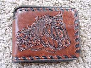 Beautiful Wallet with Horse tooled/embossed on it--NEW! London Ontario image 1
