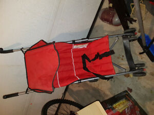 Almost new baby stroller/ carrier