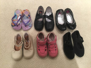 Girls leather shoes 18month-age 4