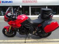2012 TRIUMPH TIGER RED 13681 MILES WITH SIDE PANNIERS