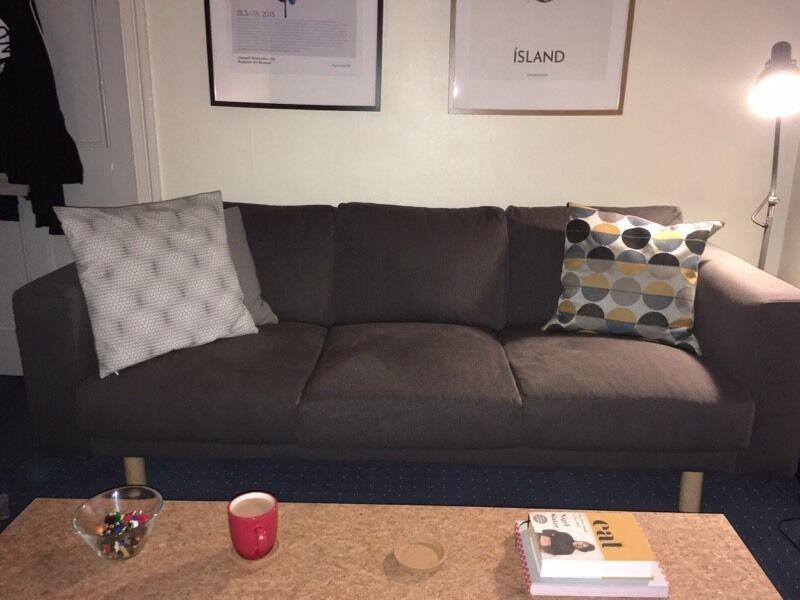 ikea norsborg 3 seater sofa like new in grange edinburgh gumtree. Black Bedroom Furniture Sets. Home Design Ideas