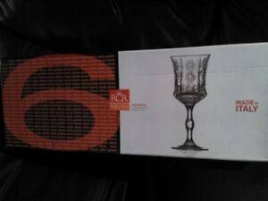 Crystal pinwheel wine glasses for sale
