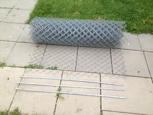 4' chain link fence