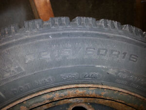 Snow tires and rims Toyota
