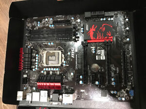MSI Z77A-G45 Gaming motherboard, non nego AS IS.