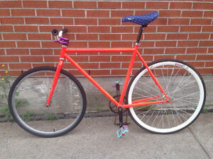 fixed gear cruiser , trick fixed gear frame , parts