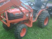 Kubota 4WD Tractor & Front Snow blower DELIVERY
