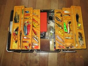 tackle box with 97 lures