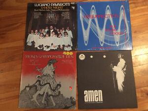 4 vinyles de musique chrétienne