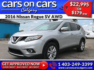 2016 Nissan Rogue SV AWD w/PanoRoof, BackUp Cam, USB Connect $17