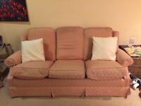 JOHN LEWIS 3 seat sofa designer fabric and down cushions