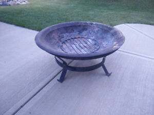 Copper camp fire bowl with stand