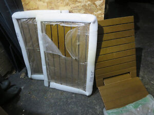 Maax Teak Shower chair and floor grates